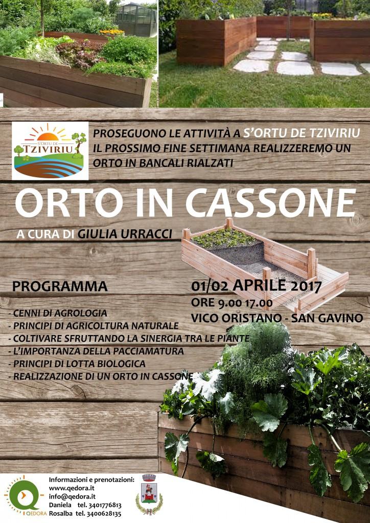 Corso orti in cassone qedora for Cassoni per orto rialzato